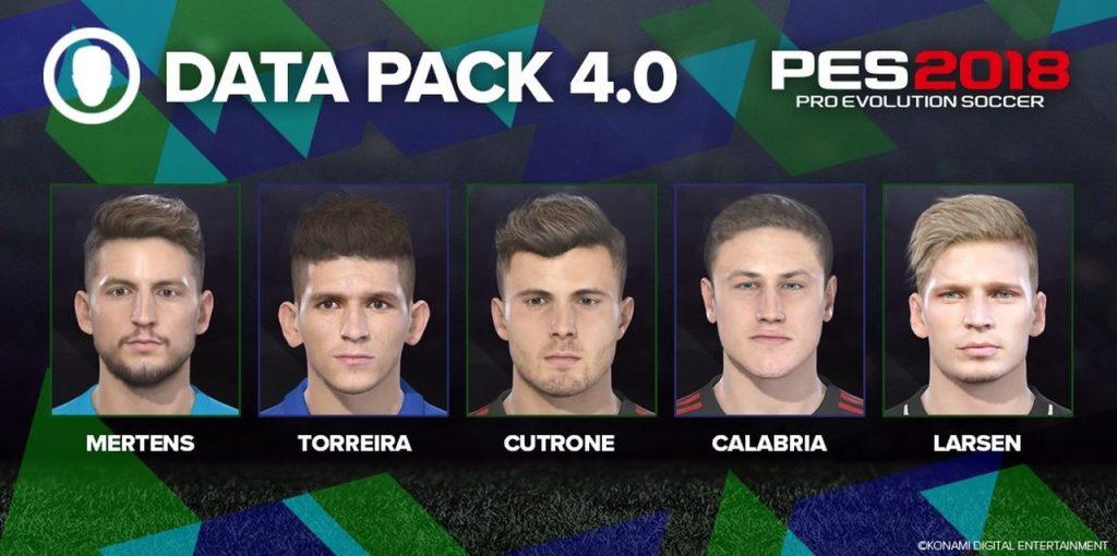 PES 2018: il nuovo Data Pack 4.0 porta oggi visi migliorati e nuove maglie