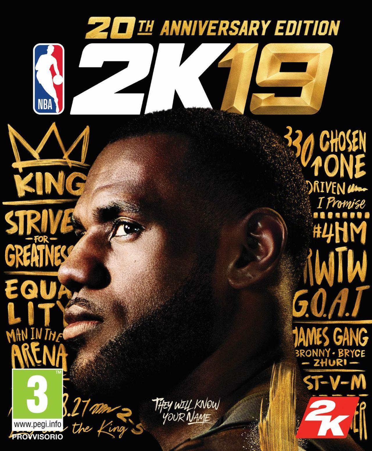 NBA 2K19: annunciata la 20th Anniversary Edition