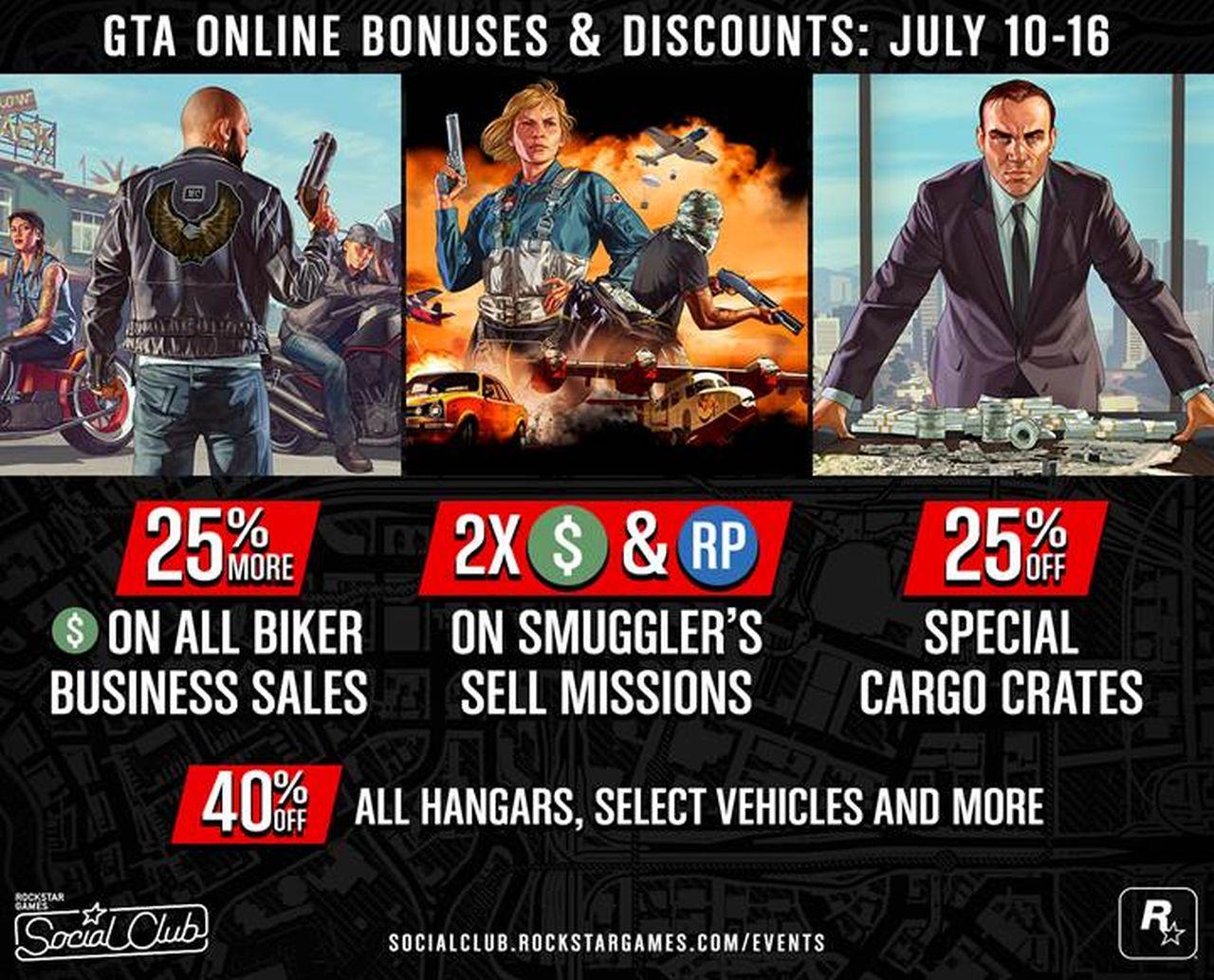 GTA Online: disponibili i bonus e le ricompense della Guest List