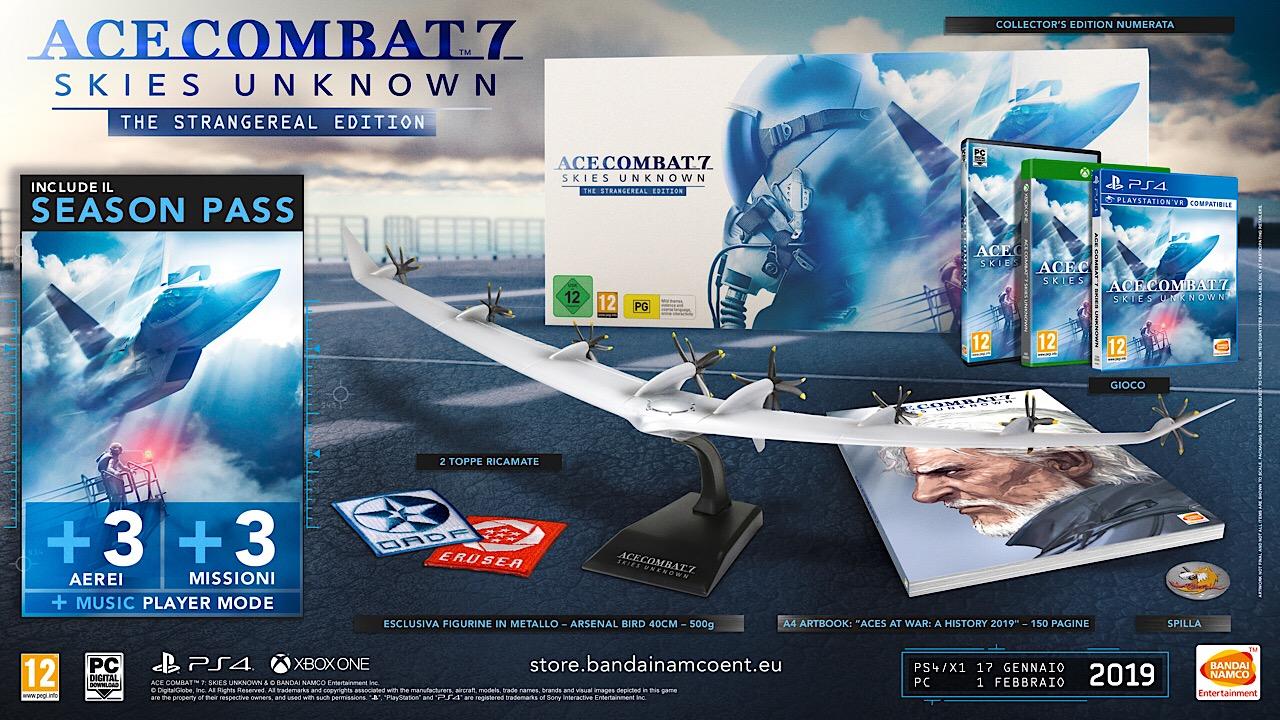 Ace Combat 7 Skies Unknown: svelata la Collector's Edition