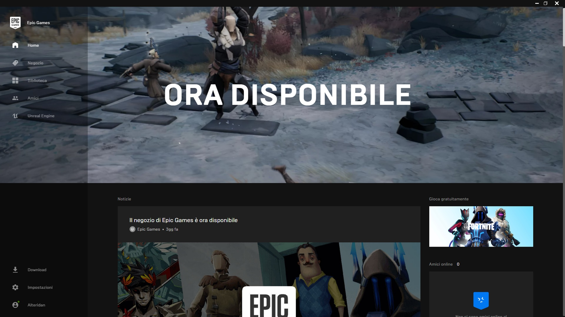 Steam Epic Games Store editoriale