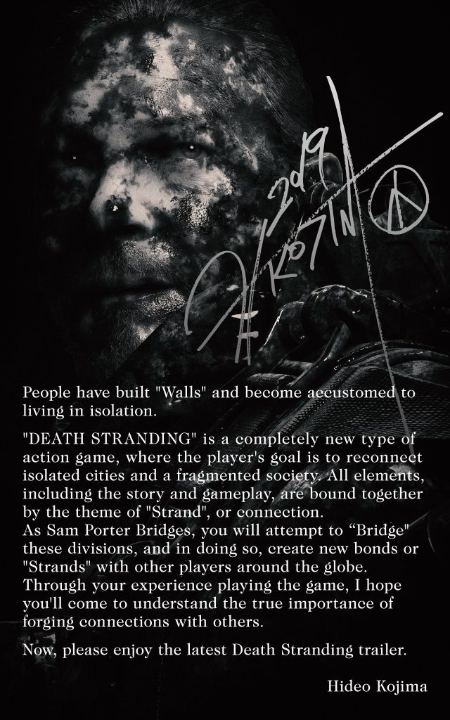 Kojima death stranding editoriale