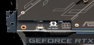 Asus Rog Strix GTX 2060 tasto led on/off