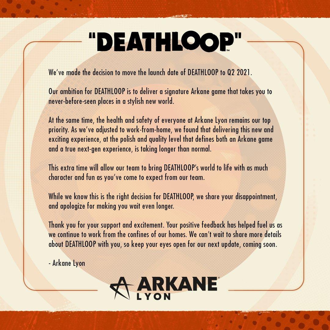 deathloop rinviato 2021