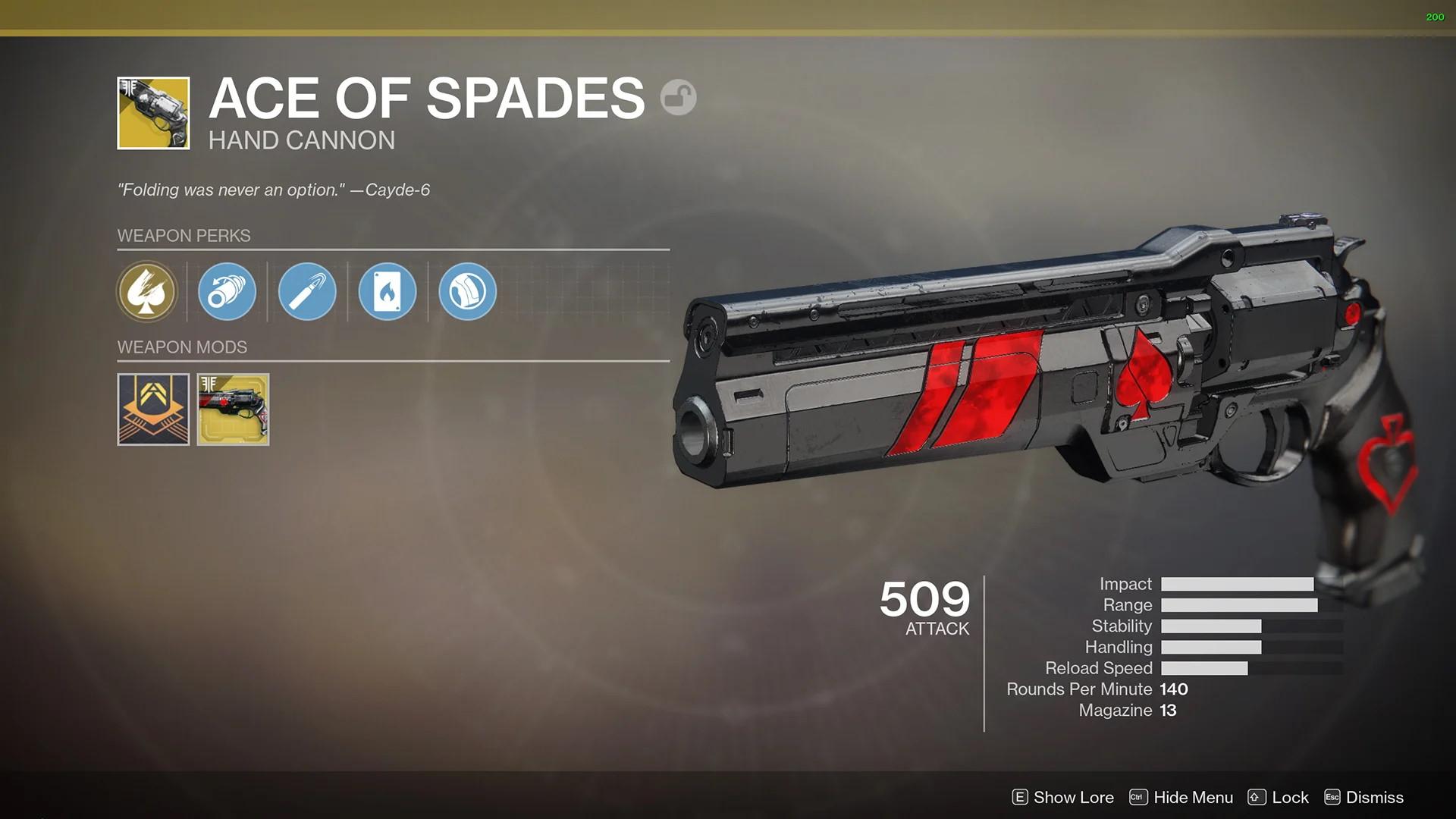 destiny 2 ace of spades