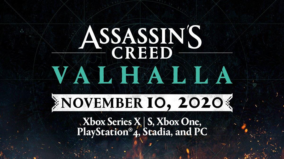 assassin's creed valhalla data di lancio