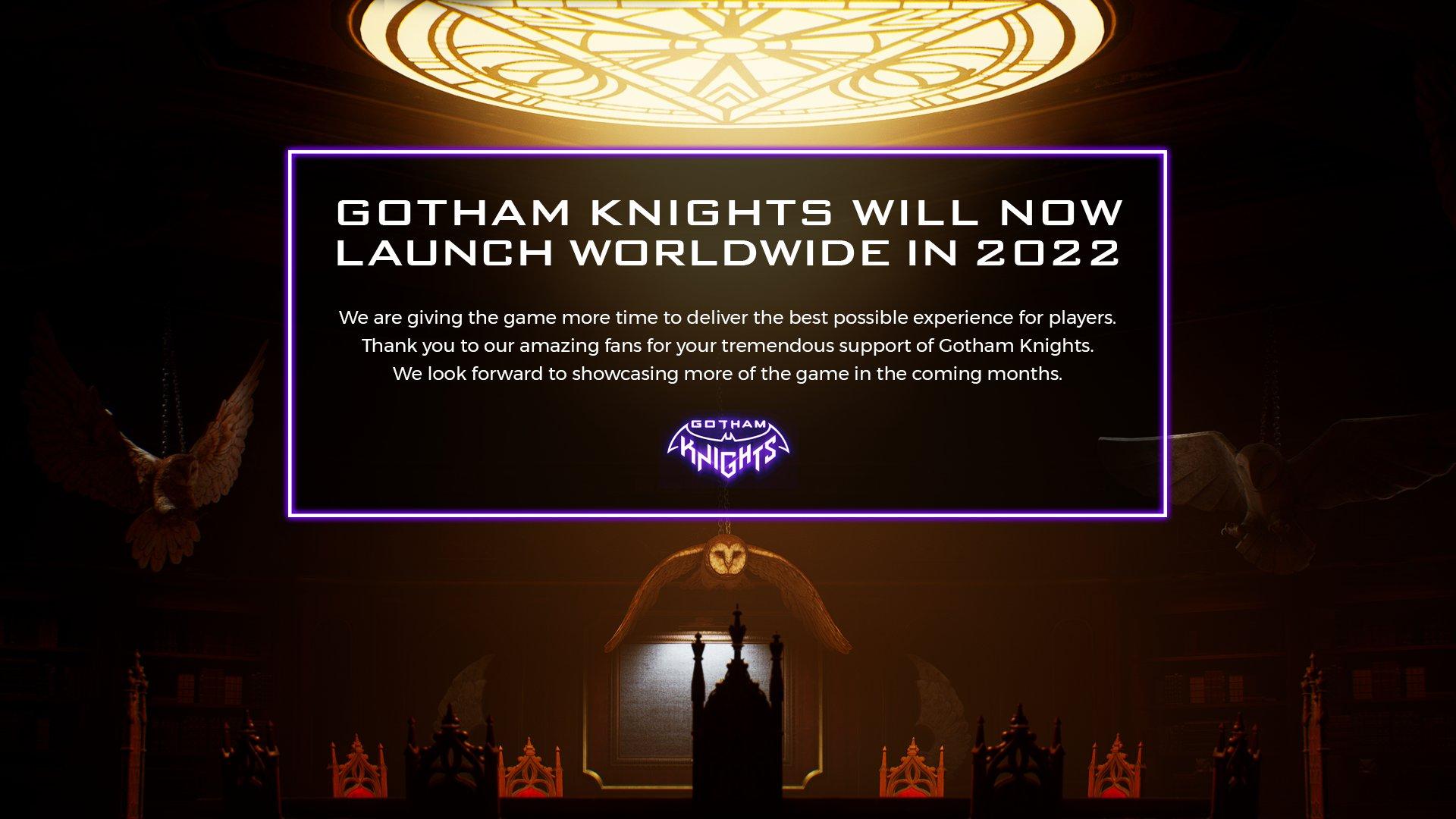 gotham knights rinviato